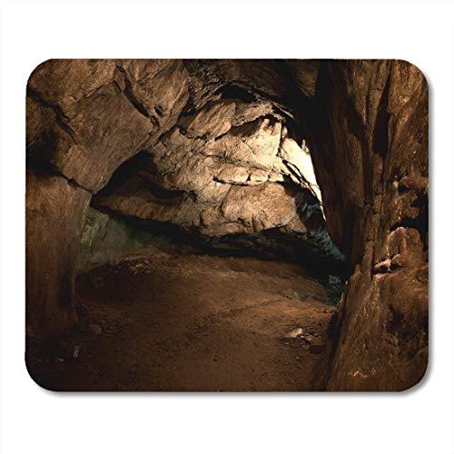 Yanteng Mouse Pads Túnel Dentro Cueva subterránea Interior Antigua Caverna Piedra Historia Alfombrilla de ratón para Cuadernos esteras