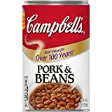 Campbell's Canned Beans, Pork and Beans, 19.75 oz. Can (Pack of 12)