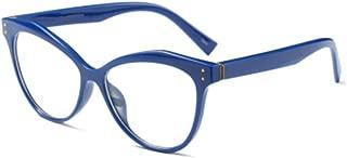 Inlefen Unisex Fashion Vintage Optical Glasses Solid Color Printed Plastic Full Round Frame Eyeglasses
