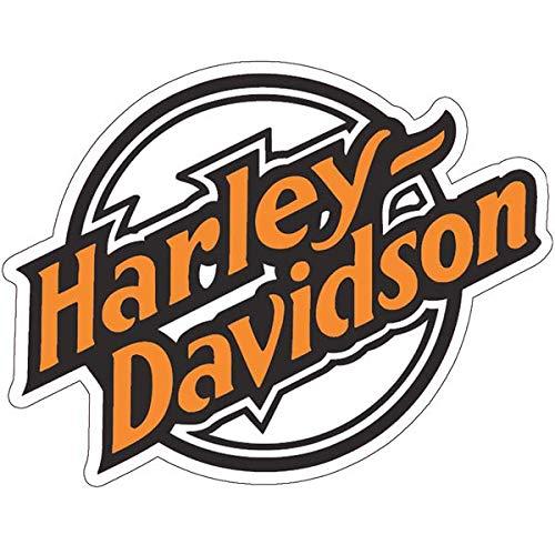 Retro Aufkleber für Helme Harley Davidson Old Orange
