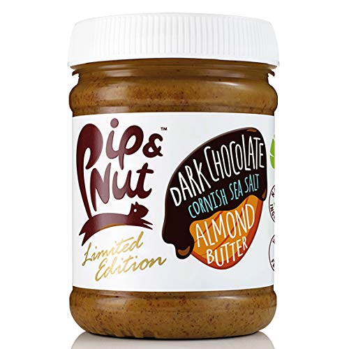 Pip & Nut Dark Chocolate Sea Salt Almond Butter, 225 g, 6-Count