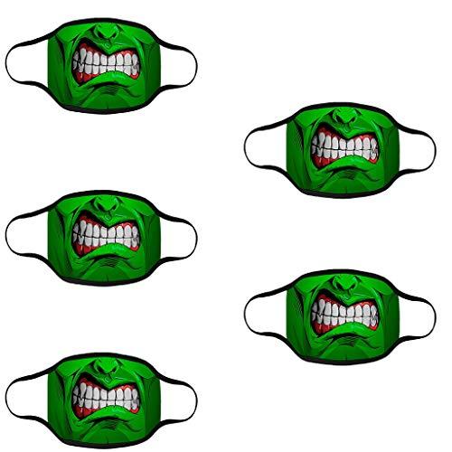 SHUANGA Halloween Face Cover Multifunktionstuch Motorrad Winddicht Atmungsaktiv Mundschutz Halstuch Schön Atmungsaktiv Sommerschal Augenschutz