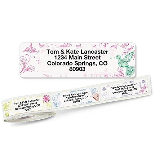 Flower Garden Rolled Address Labels (5 Designs) Roll of 250