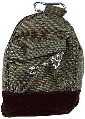 LIUCM Women Mini Coin Key Card Wallet Lovely Mini Backpack Shape Change Purse Bag Green product image