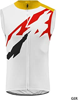 Uglyfrog Men's Cycling Vest Set Men Bike Jerseys and (bib) Shorts with Gel Paded XS-6XL, Breathable Quick-Dry Sleeveless Bicycle Top UGUS19DJV06