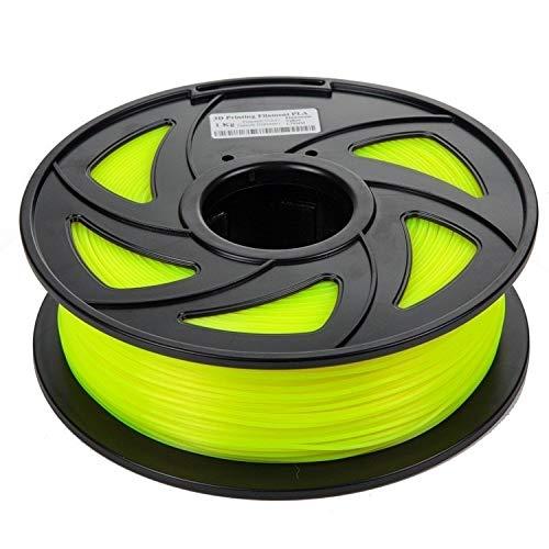 HUANRUOBAIHUO Fluoreszierende Serie Filament for 3D-Drucker Niedrige Temperatur 1KG PLA Filament 1.75mm 3D-Drucker Verbrauchsmaterial 3D-Druckmaterialien Druckerzubehör ( Color : Fluorescent Yellow )