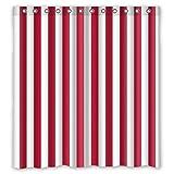 doubee gestreift rot Raspberry Wasserdicht Polyester Badezimmer Dusche Vorhang 167cm x 183cm ungiftig, geruchslos, Polyester, E, 168 x 183 cm
