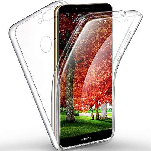 XCYYOO Custodia per Motorola Moto G5S Plus,Full Body Anteriore TPU Silicone + Posteriore Rigido Accessori Protettiva Ultra Slim【No Dots】 2 in 1 Bumper Premium Resistente Case