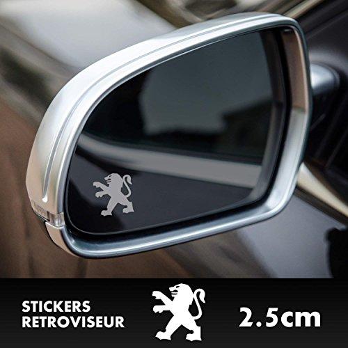 SUPERSTICKI 2X Peugeot Löwe Logo Spiegelaufkleber Milchglasfolie Frostfolie. Aufkleber ohne Hintergrund Hochlei
