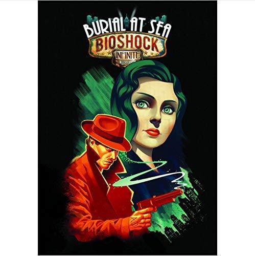 Druck Auf Leinwand Rahmenlose Malerei Bioshock Rapture Poster Spiel Wandabdrücke Glänzende Lebendige Farbe Home Wohnzimmer Dekoration A666 (40X50Cm) Ohne Rahmen