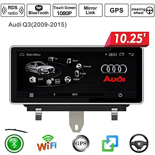 Autoradio Android Doppio Din Sat Nav per Audi Q3 2009-2015 Navigazione GPS Touch screen da 10,25 pollici DSP RDS Lettore multimediale Ricevitore video con 4G