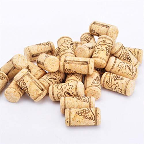 Sevenfly 10 Stücke Natürliche Weinkorken Premium Gerade Korken Ausgezeichnet Für Flaschenwein (Kork)