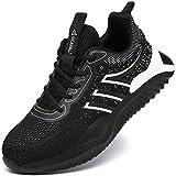 UCAYALI Zapatos de Seguridad Hombre Antideslizante Zapatillas de Trabajo con Puntera de Acero Ligeros Bambas de Seguridad Negro Carbón Gr.43