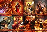 GnD Cards Full Set of Red Elemental 1/1 Tokens (for Young Pyromancer)