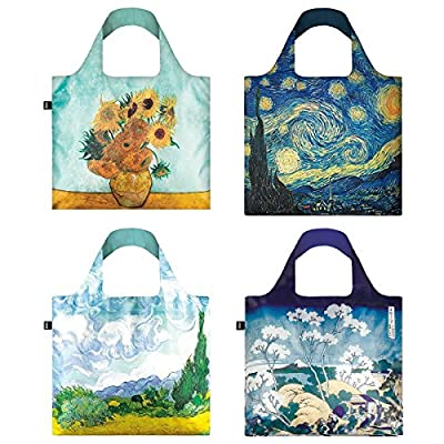 LOQI Museum9 Collection Reusable Grocery Bags