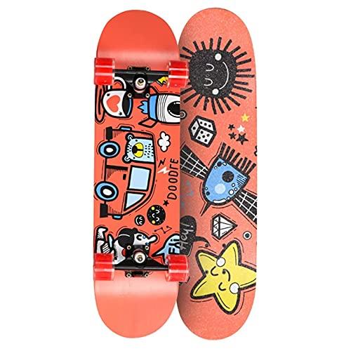 QUNHU Skateboards, 31 Pulgadas Complete Light Light PODEMA para Adultos, BENETOS, NIÑAS, NIÑOS, NIÑOS, Adultos (Color : Pink)