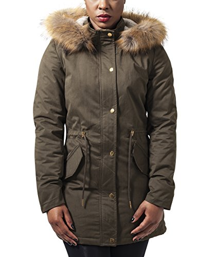 Urban Classics dames jas/jack Ladies Sherpa Lined Peached Parka
