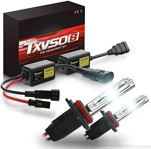 QXF-DCD Autolicht AC 55 W Xenon HID Vorschaltgerät H4 / H7 / H8 H9 H11 / H13 / 880881 H27 / 5202 H16 / 9004 9007/9005 HB3 / 9006 HB4 Xenonbrenner 6000K, Scheinwerfer-Umrüstsatz, Autoscheinwerfer-Xenon