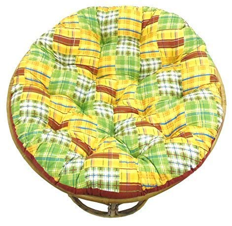 COTTON CRAFT Papasan Chair Cushion (unfilled Shell only) - Madras...