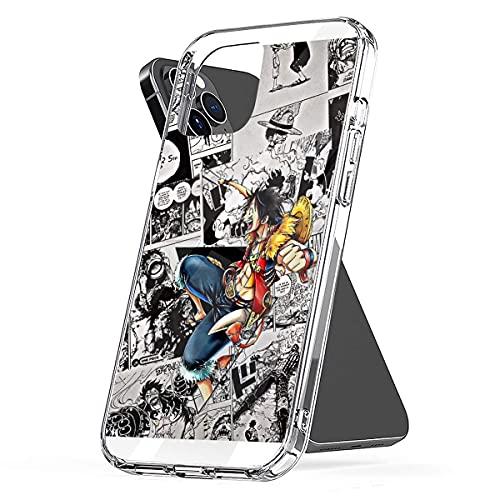 Cajas de teléfono Pure Clear para iPhone 12/12 Pro MAX 12 Mini 11 Pro MAX SE X XS MAX XR 8 7 6 6s Plus Funda Luffy One Piece Funda Protectora de Silicona TPU