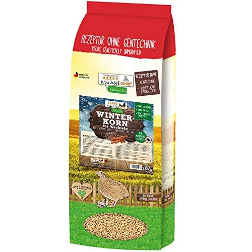 WachtelGold Winterkorn 25kg Wachtelfutter Legekorn Legefutter - ohne Palmöl, ohne Gentechnik