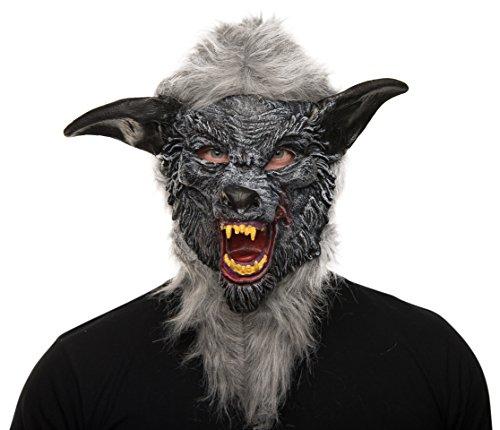 Balinco Werwolf Horror Maske Halloweenmaske Wolf Vollmaske Karneval Werwolfmaske für Karneval / Fasching, Halloween und Motto Party´s