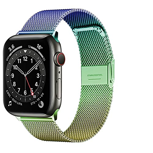 Banda para Apple Watch Series 1 2 3 4 5 6 Se 42 mm 38 mm Correa para iwatch Banda 40 mm 44 mm Pulsera de acero inoxidable milanesa-Color dorado, 38 mm o 40 mm