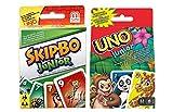 Mattel T1882 Skip-Bo junior y Junior 52456 Tarjeta UNO Juego