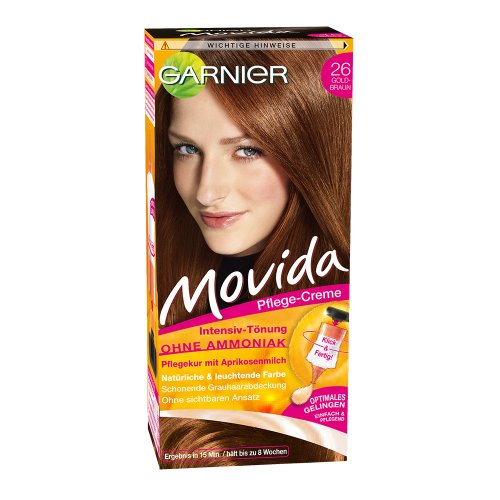 Garnier Movida Haarfarbe Intensiv-Tönung, 26 Goldbraun