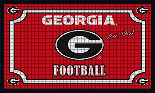 georgia bulldog bathroom mat - 6