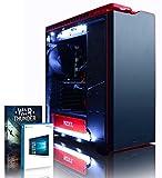 VIBOX Colossus 6 - Ordenador para Gaming (Intel i7-5960X, 32 GB de RAM, 3 TB de Disco Duro, Nvidia Geforce GTX 980 Ti, Windows 10) Color Negro y Rojo