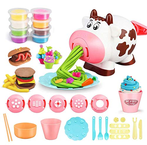 25 PCS Playdough Sets Play Dough Tools Kit Kitchen Creations Machine for Girls Boys Kids and Toddlers 8 Colors Play Dough Included