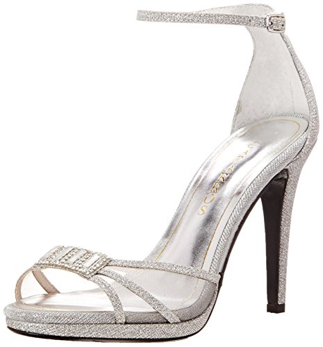 Caparros Women's Tyler Dress Sandal, Silver, 8.5 M US