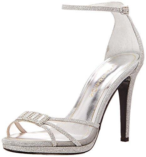 Caparros Women's Tyler Dress Sandal, Silver, 8.5 M US