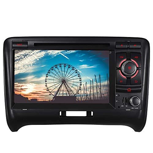Junhua 7 Zoll Bildschirm Autoradio Radio mit Navi Moniceiver DVD GPS Navigation Unterstützt Bluetooth DAB+ RDS Mirrorlink Bose System für Audi TT 2006-2015