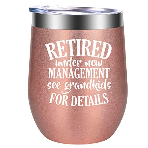 Retirement Gifts for Women 2021 - Funny Wine Gifts, Humorous Retired Gifts, Happy Retirement Gifts for Women, Coworker, Retiring Teacher, Nurse, Grandma, Friend, Boss - GSPY Retirement Wine Tumbler