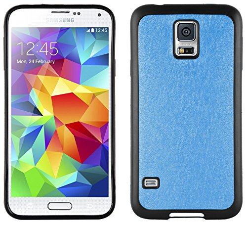 JAMMYLIZARD | Custodia Effetto Satinato Case Back Cover in Silicone per Samsung Galaxy S5, BLU