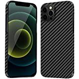 Carbon Fiber Phone Case Compatible iPhone 12 Pro Max 6.7 inch Slim and Thin Design Supports Wireless Charging Cover, Lightweight 0.02in & 0.3oz, 1 Pack