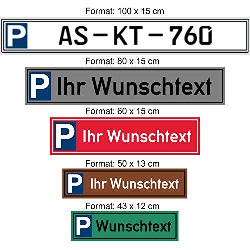 Schilder Himmel Parkplatz Schild Reserviert Für Auto Kfz Kennzeichen Mit Wunschtext Wahlweise Mit Einschlagpfosten Hier Größe 43 X 12 Cm 2mm Starkes Aluminium Nichtrostend Eigener Text Auto