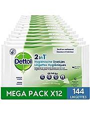 Dettol 2in1 Hygiënische 12 x 12 Doekjes Grootverpakking