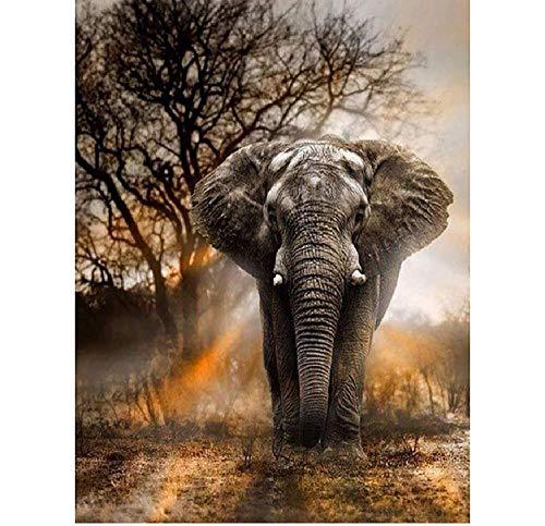 TWYYDP Puzzel Für Erwachsene 1000 Teile Elefant Im Tierwald Wohnkultur Gemälde, Plakate