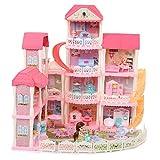 Casa de muñecas para niños, 4 pisos, con muebles y accesorios, apto para niños a partir de 3 años