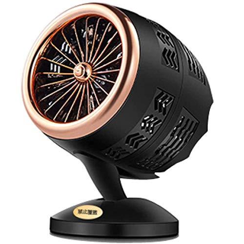 DPGPLP Ventilador calefactor eléctrico mini portátil espacio invierno personal Horno de calefacción del escritorio Radiador, Gold Black