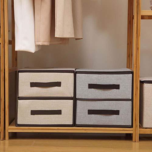 Homieco Multifunktions faltbares Tuch Lagerung Schublade Box Einheiten Kleiderschrank Organisator Easy Pull Stoff derKasten 11.8