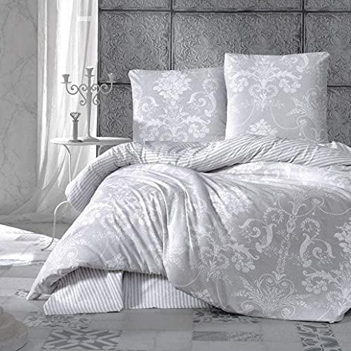 Albeny Bettwäsche Set 2 teilig bestehend aus, 1 Bettbezug 135x200 und 1 Kissenbezug 80x80 cm, 100% Türkische Baumwolle, weich und kuschelig, Allergikergeeignet