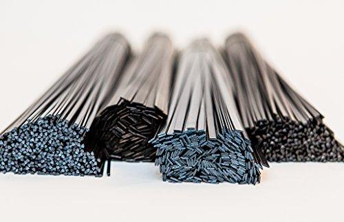 Bacchette per saldatura plastica per rete rinforzato, plastica ABS, PP, polietilene ad alta densità (HDPE), {0c99d24330e4cc93c32516e227ccab0a8a35862bbff4eb09199a8d3210c1aef4}2FEPDM, in polipropilene, colore: nero, confezione da 20 pezzi