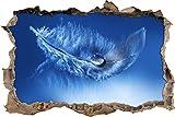 pixxp Blueprint 3D WD s2453_ 62x 42Schöne Muelle con pequeña Gota perforar Pared Adhesivo Pared en 3D, Vinilo, Multicolor, 62x 42x 0,02cm