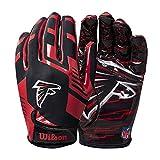Wilson NFL Stretch Fit Football Gloves - Atlanta- Adult, WTF9326AT