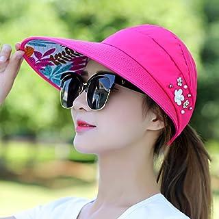 DUOLUO 2018新しい帽子女性の夏の屋外抗UVキャップ折りたたみサンバイザー花空のシルクハット
