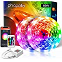 65.6-Feet RGB Color Changing Smart LED Strip Lights with Remote
